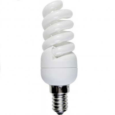 TS4W11ECC Люминесцентная лампа Ecola Light Spiral 11W Micro Full Plus 220V E14 2700K 98x32