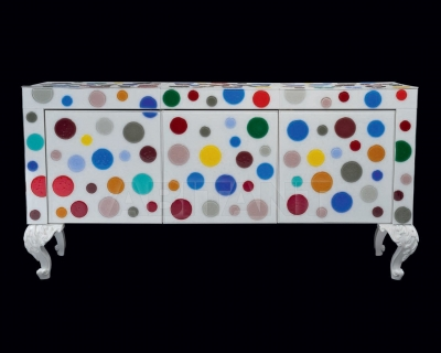 Комод Pataviumart Sideboard with Polka-Dot Murano Glass ACCR03/2101