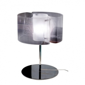 Настольный светильник Vistosi Chimer09 Table Crystal Striped Chrome E27 LTCHIMERICRE27