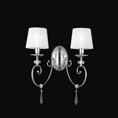 Бра Newport 10200 10202/A Chrome Clear crystal Shade white