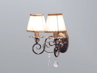 Бра Newport Античная бронза 2100 2102/A Antique bronze Clear crystal Shade beige