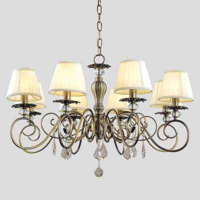 Подвесная люстра Newport Античная бронза 2100 2108/C Antique bronze Clear crystal Shade beige