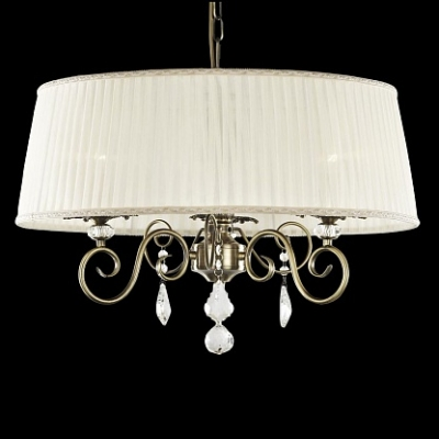 Подвесная люстра Newport Античная бронза 2300 2303/C Antique bronze Clear crystal Shade beige
