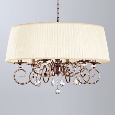 Подвесная люстра Newport Античная бронза 2300 2306/C Antique bronze Clear crystal Shade beige