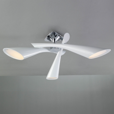 Люстра на штанге Mantra Pop Blanco Semiceiling/Ceiling 3 lights 0922 White Lacquer
