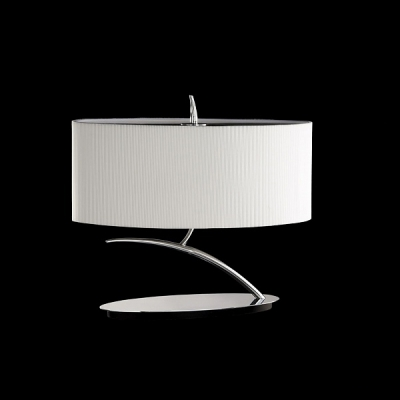 Декоративная настольная лампа Mantra Eve Cromo - P. Creama Tabl Lamp 2 lights 1138 Chrome/Cream Shade