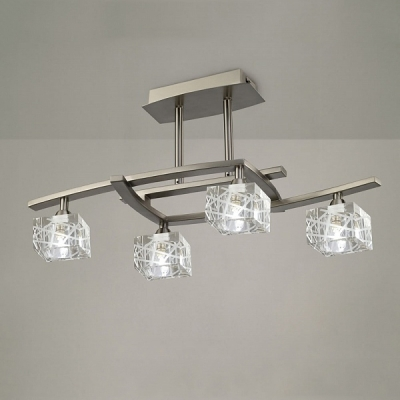Потолочный светильник Mantra Zen Semiceiling 4 lights 1440 Satin Nickel