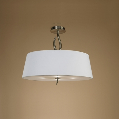 Люстра на штанге Mantra Ninette Semiceiling 4 lights 1928 Antique Brass - Cream Shade