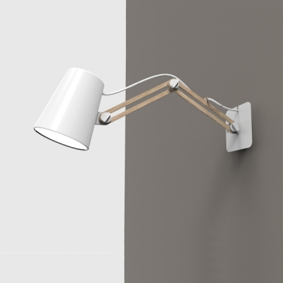 Бра Mantra Looker 1 light Double 3773 White + Wood