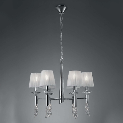 Подвесная люстра Mantra Tiffany Pendant 6+6 lights 3851 Chrome