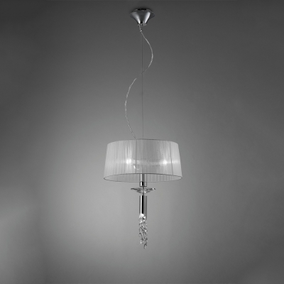 Подвесная люстра Mantra Tiffany Pendant Small 3+1 lights 3858 Chrome