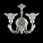 Бра Schonbek Crystals from Swarovski Sconce 7855 Antique Silver