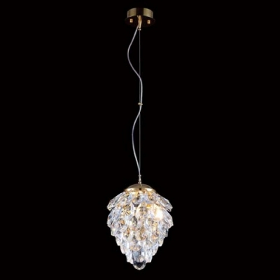 Подвесной светильник Crystal Lux CHARME SP1+1 LED GOLD/TRANSPARENT