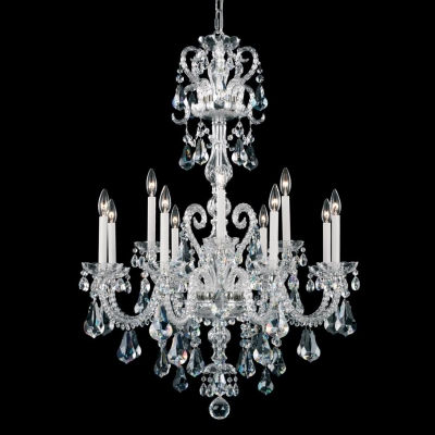 Подвесная люстра Schonbek Crystals from Swarovski Chandelier NV3912 Polished Silver